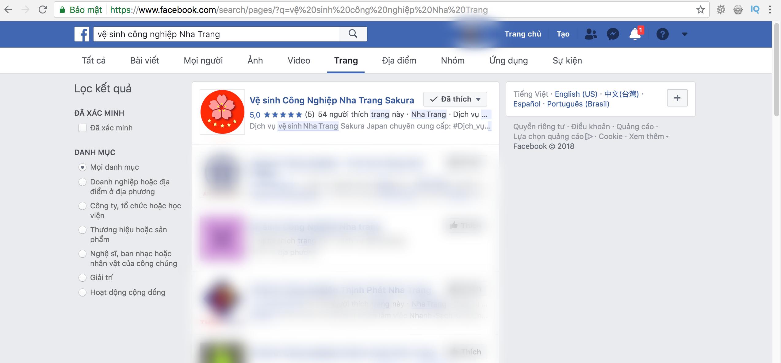 Dịch vụ vệ sinh Công nghiệp tại Nha Trang Sakura với top 1 Facebook