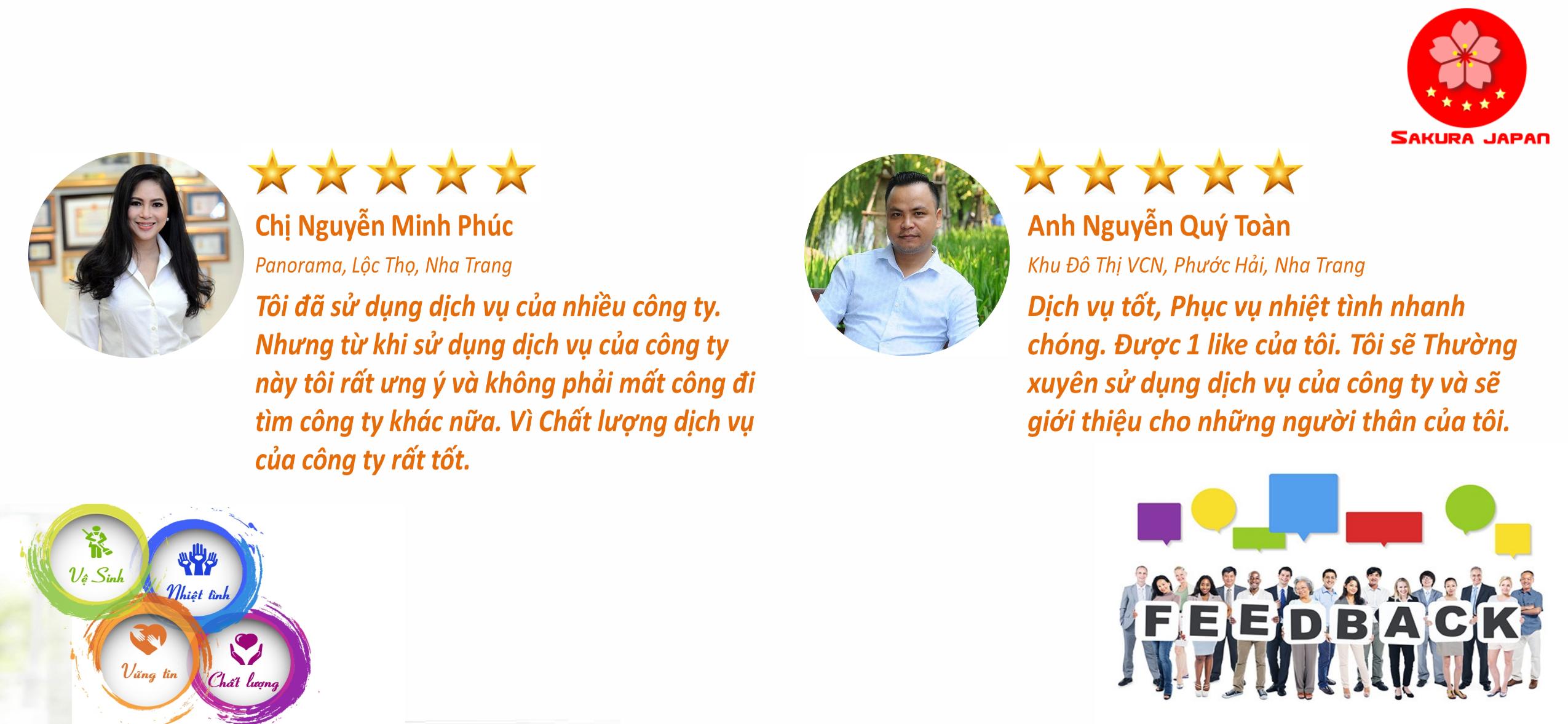 Ý kiến Đánh giá về Dịch vụ vệ sinh Công nghiệp tại Nha Trang Sakura