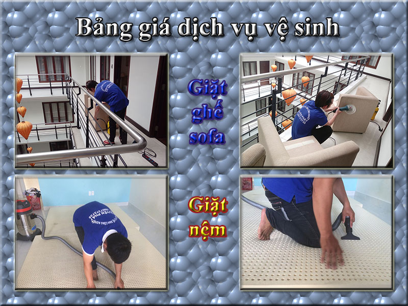 Bảng giá Dịch vụ giặt ghế sofa Nha Trang