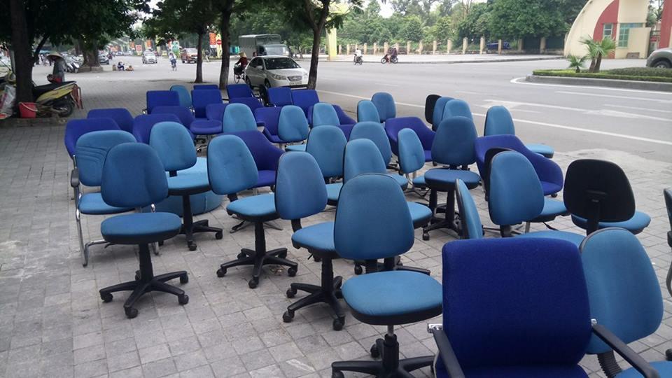 Khảo sát làm việc Giặt ghế Văn phòng Nha Trang Sakura