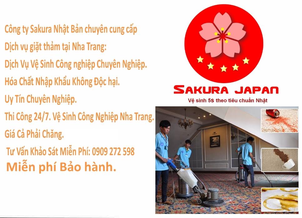Dịch vụ giặt thảm tại Nha Trang Sakura