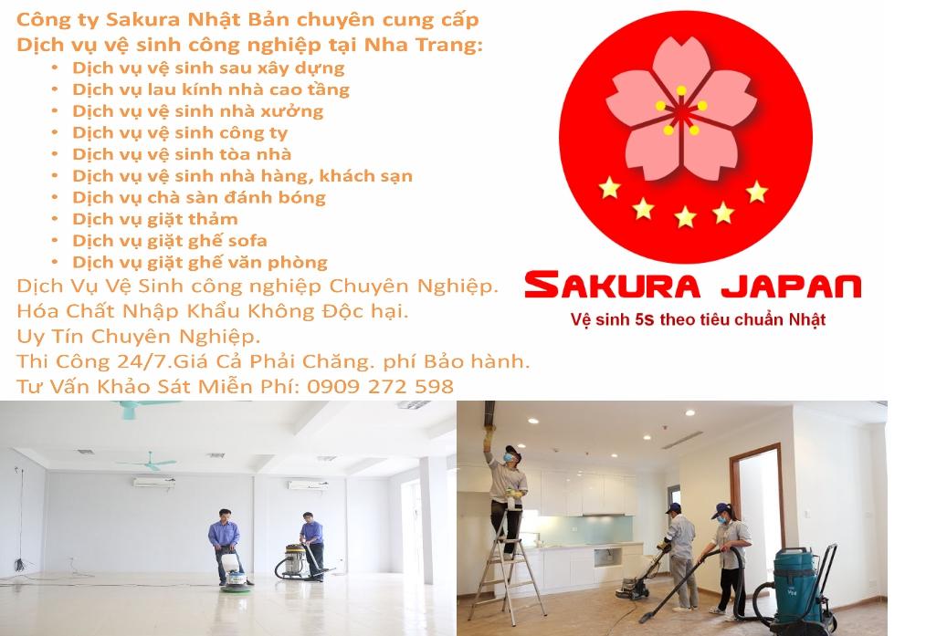 Dịch vụ vệ sinh công nghiệp Nha Trang Sakura