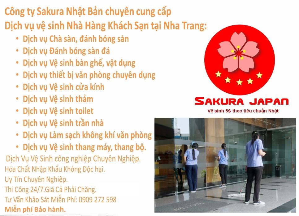 Báo giá Dịch vụ vệ sinh Nhà hàng Khách sạn Nha Trang Sakura