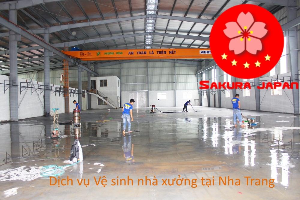 Dịch vụ vệ sinh nhà Xưởng Nha Trang Sakura