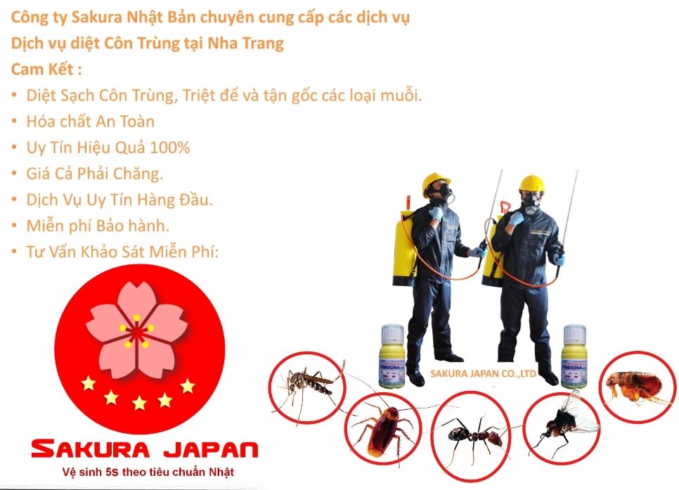 Bảng Giá Phun Thuốc Diệt Côn Trùng Nha Trang Sakura