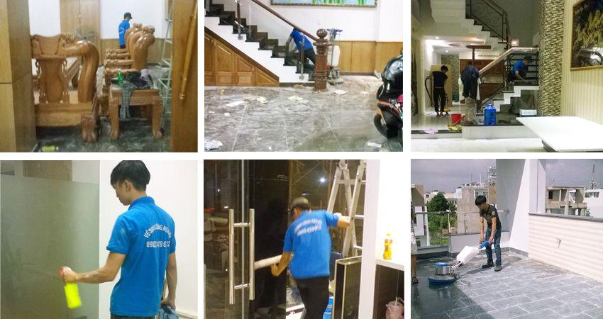 Dịch vụ vệ sinh Nhà mới xây Nha Trang