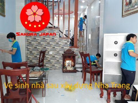 Vệ sinh nhà Sau Xây dựng Nha Trang