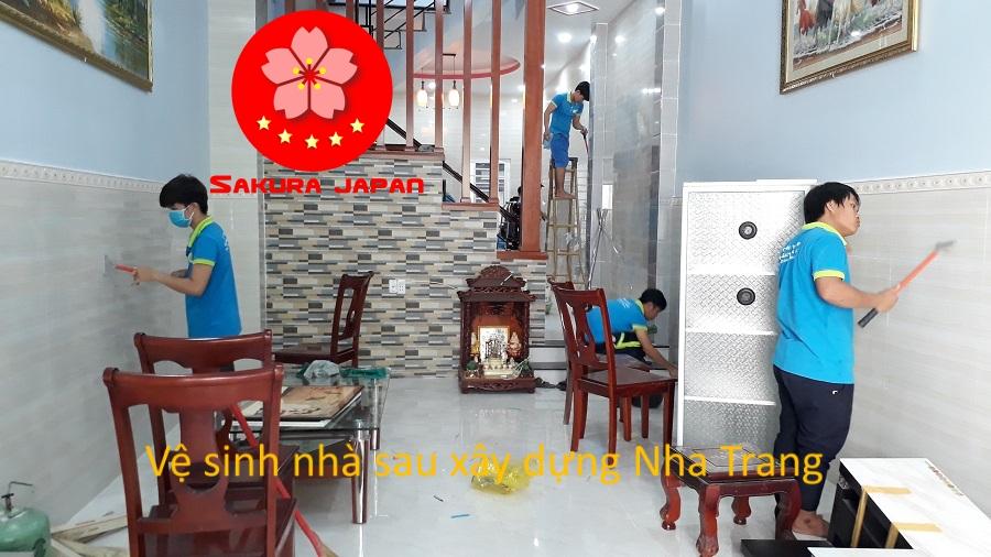 Dịch vụ Tổng vệ sinh nhà sau xây dựng Nha Trang Sakura
