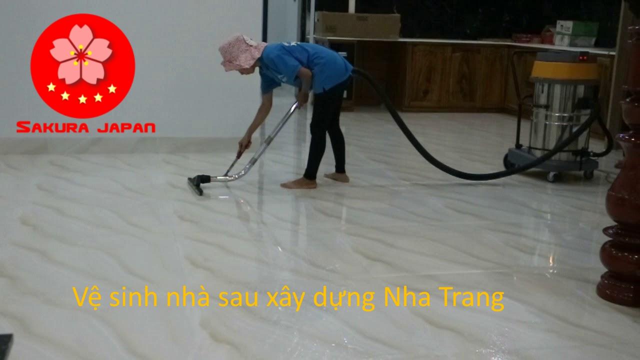 Thiết bị Tổng vệ sinh nhà sau xây dựng Nha Trang