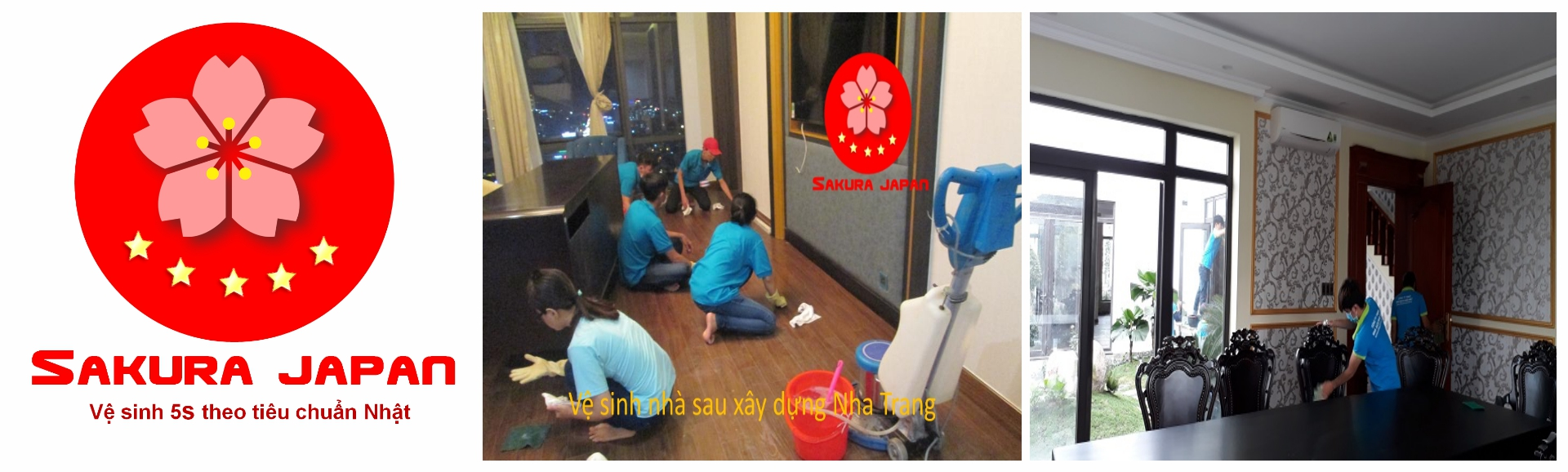 Vệ sinh Nhà mới xây Nha Trang