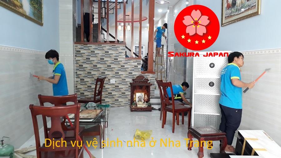 Vệ sinh nhà ở Nha Trang Sakura