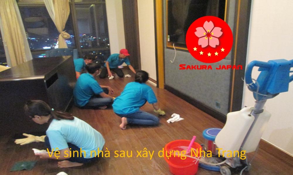 Tổng vệ sinh nhà sau xây dựng Nha Trang Sakura