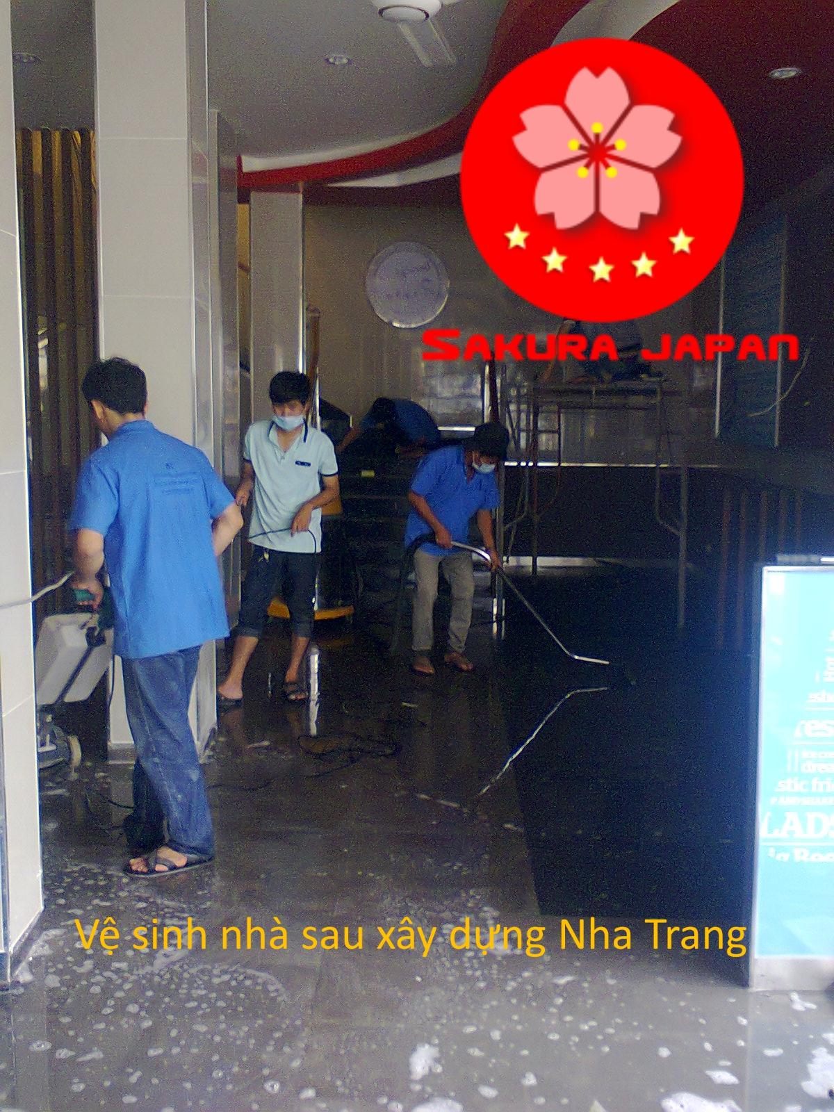 Công ty Tổng vệ sinh nhà sau xây dựng Nha Trang Sakura