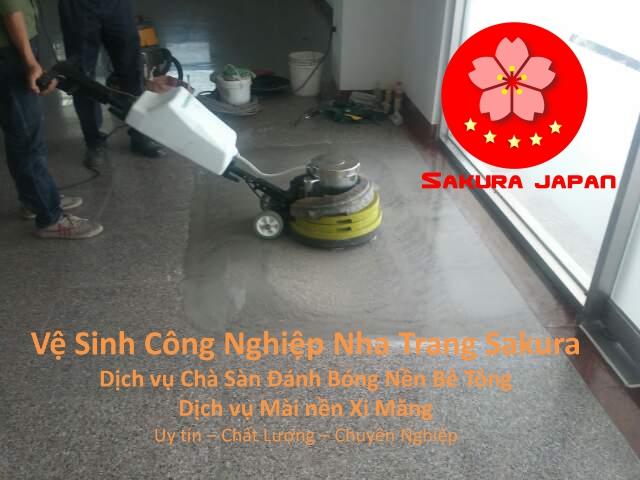 Dịch vụ Đánh Bóng Mài Sàn Bê Tông Nha Trang Sakura