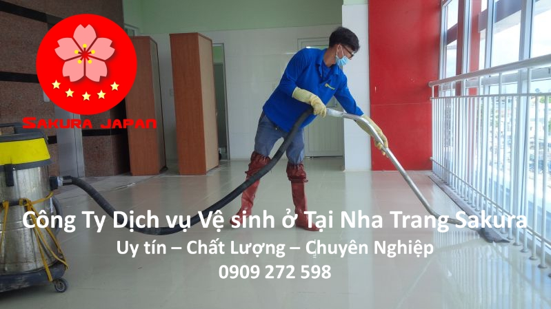 Công Ty Dịch vụ vệ sinh ở tại Nha Trang Uy tín Giá Rẻ Chuyên nghiệp Nhất