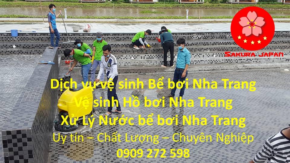 Dịch vụ vệ sinh hồ bơi Nha Trang Uy Tín Chuyên Nghiệp