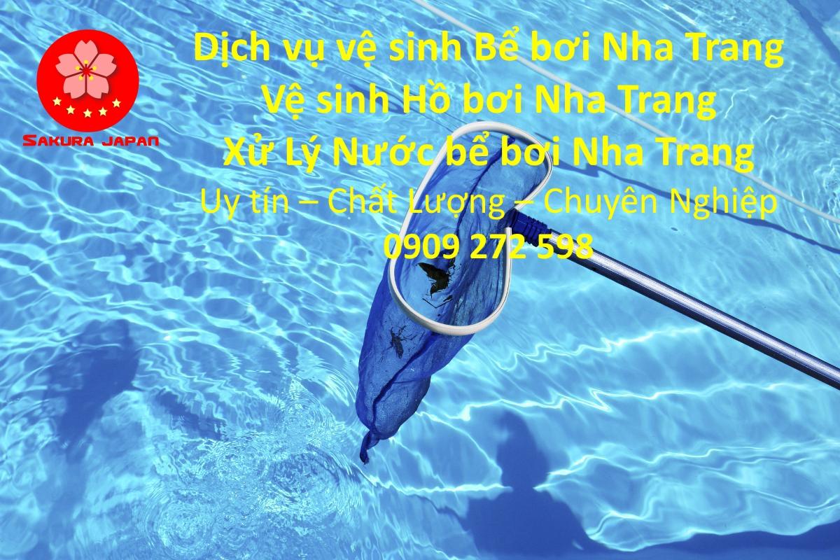 Dịch vụ vệ sinh hồ bơi Nha Trang uy Tín