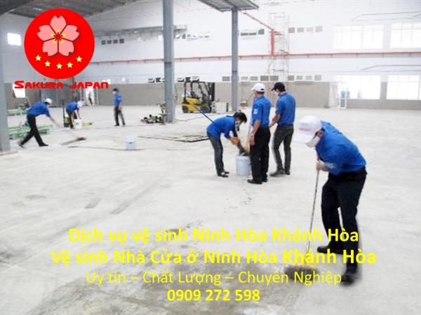 Vệ Sinh Nhà mới xây Ninh Hòa Khánh Hòa