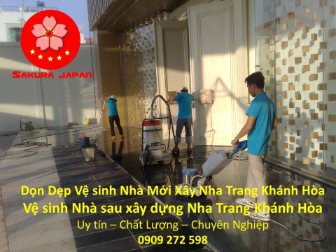 Vệ Sinh Nhà Mới Xây Nha Trang Khánh Hòa