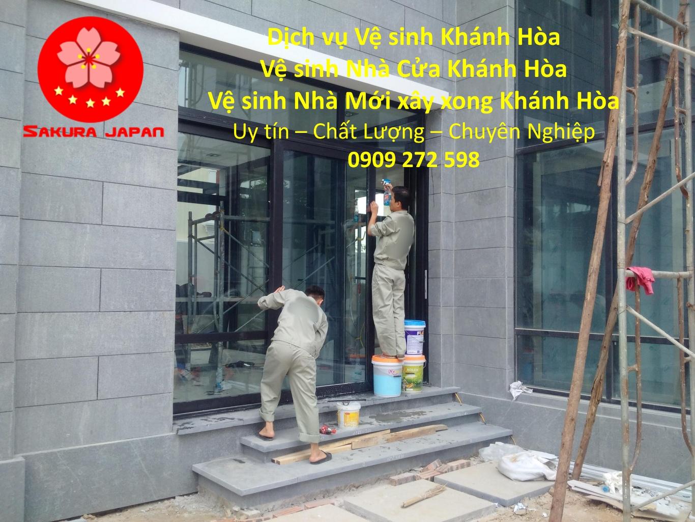 Dịch vụ vệ sinh Nhà cửa trọn gói Khánh Hòa