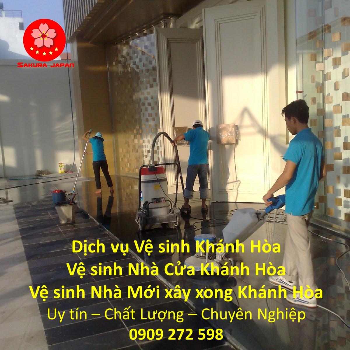 Dịch vụ Vệ Sinh Nhà Ở Khánh Hòa Chuyên Nghiệp Uy Tín