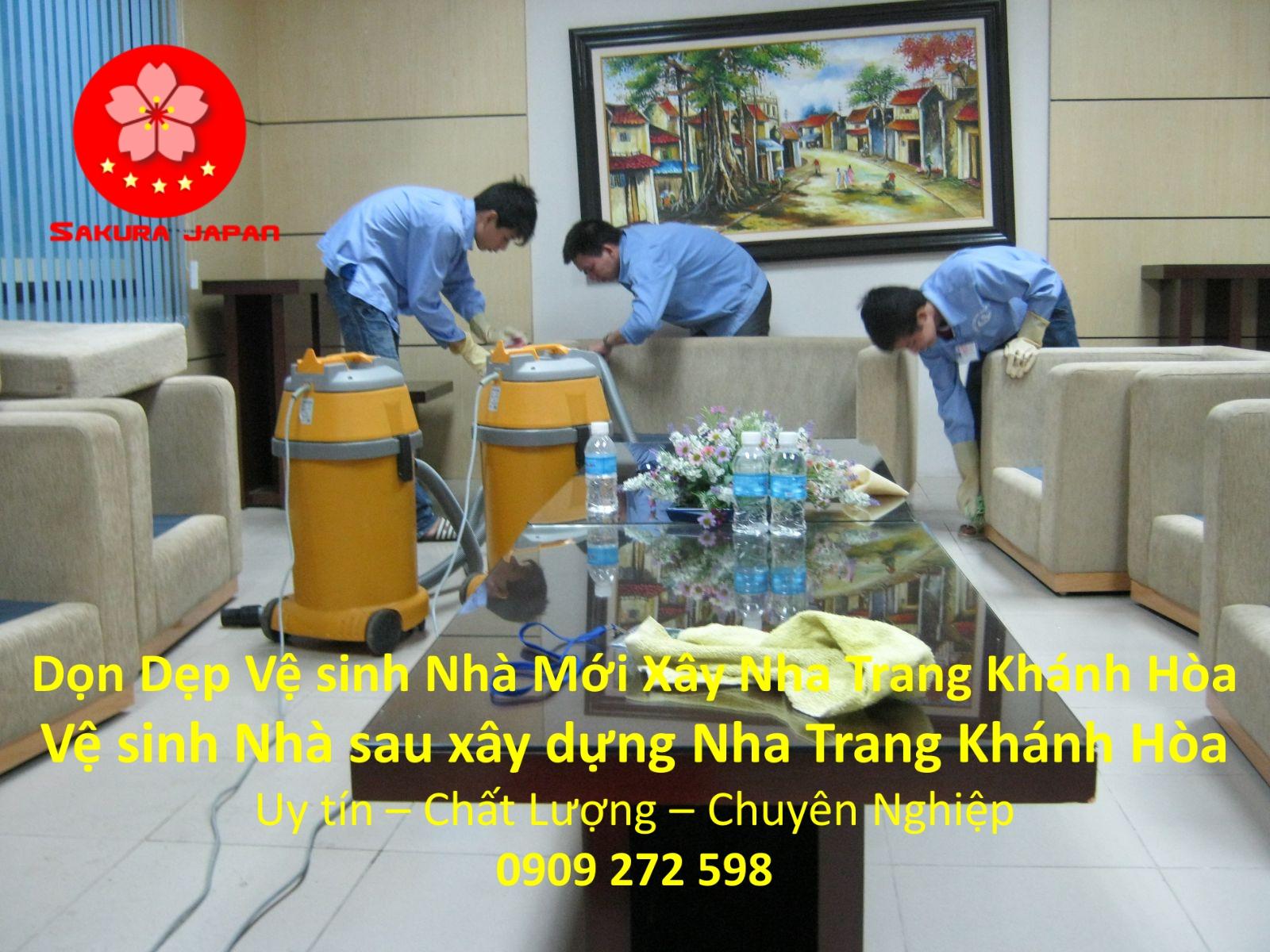 Dịch vụ Vệ Sinh Nhà Mới Xây Nha Trang Khánh Hòa