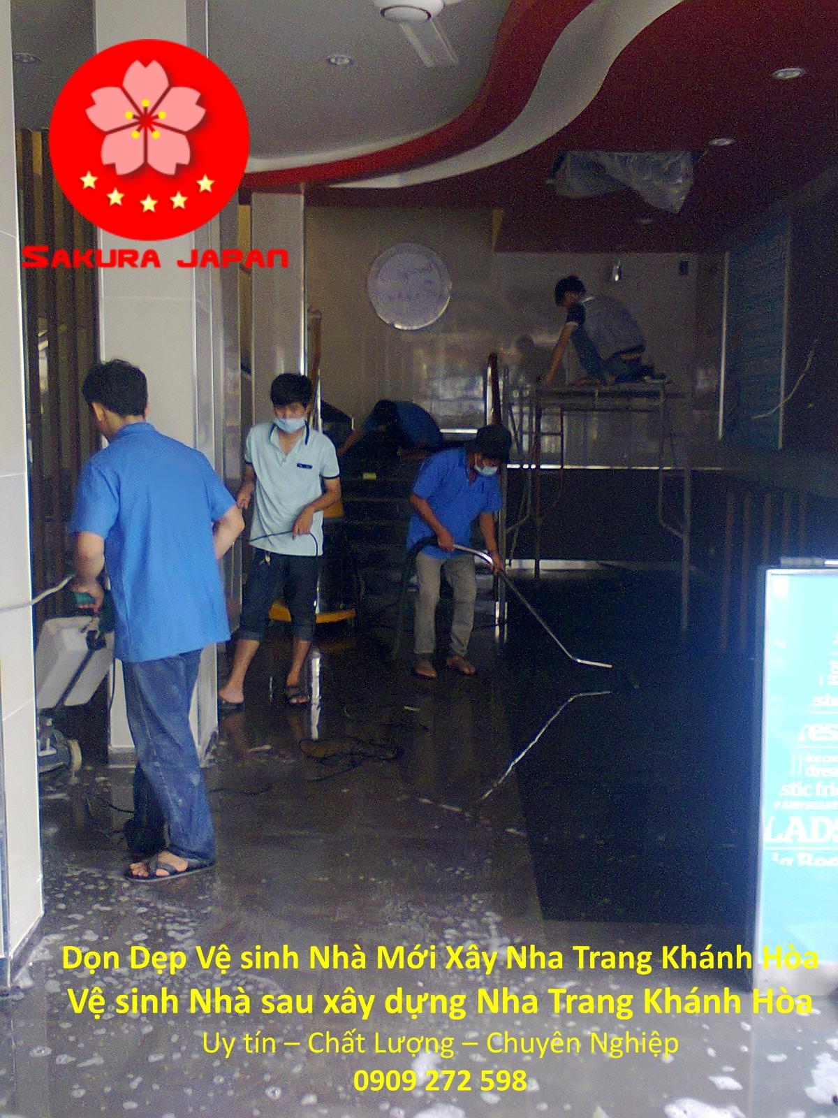 Vệ Sinh Nhà Mới Xây Nha Trang Khánh Hòa Uy Tín