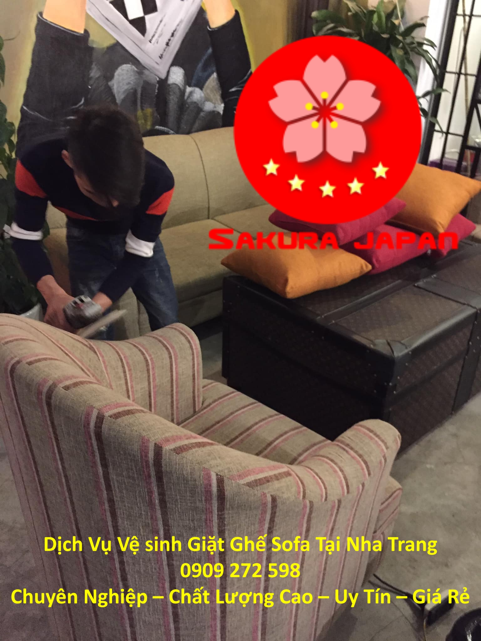 Dịch Vụ Vệ sinh Giặt Ghế Sofa Tại Nha Trang Giá Rẻ Nhất