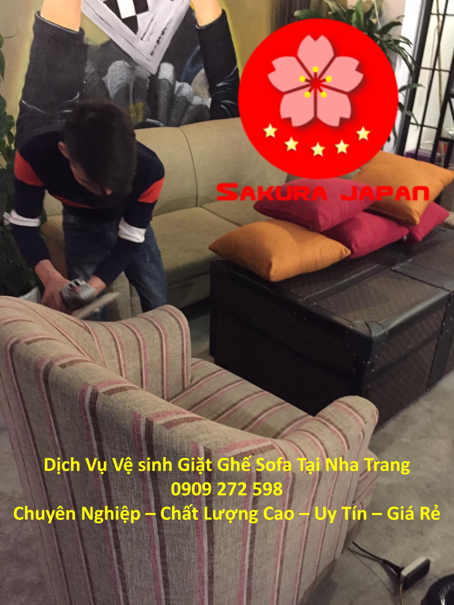 Vệ Sinh Giặt Sofa Khách Sạn Tại Nha Trang Chuyên Nghiệp Nhất