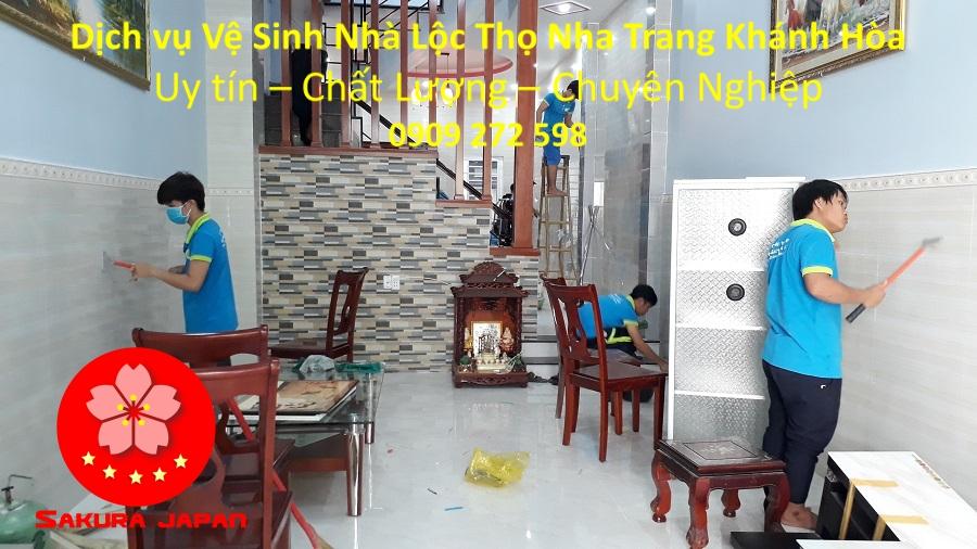 Dịch Vụ Vệ Sinh Nhà Cửa Tại Nha Trang Lộc Thọ Uy Tín Nhất
